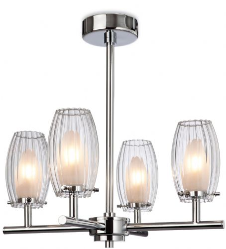 Firstlight 8126CH Chrome with Clear/Frosted Glass Pacific 4 Light Fitting